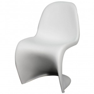 Groovy Molded PP Chair, White by NPD (New Pacific Direct)