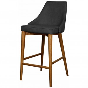 Erin Fabric Counter Stool, Walnut Legs, Night Shade by NPD (New Pacific Direct)