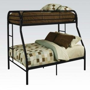 Tritan Full/Twin Size Bunk Bed, Black by ACME