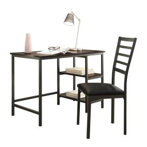 Madigan Vinyl/Metal Writing Desk w/Chair by Homelegance