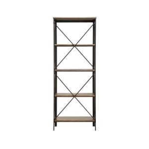 Penpoint Wood Veneer/Metal Bookcase by Homelegance