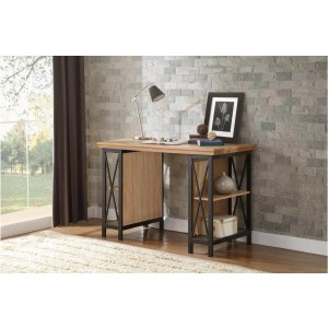 Penpoint Industrial Wood Writing Desk by Homelegance