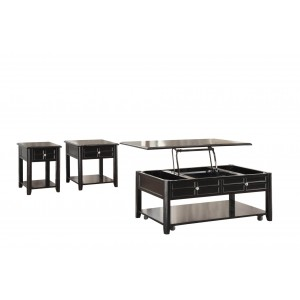 Carrier Wood Occasional Table Set by Homelegance