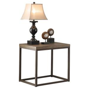 Daria Wood Veneer End Table by Homelegance