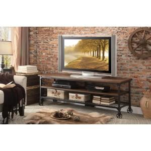 Millwood Wood Veneer/Metal TV Stand by Homelegance