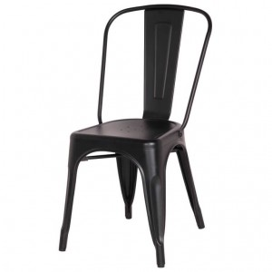 Metropolis Metal Side Chair, Frosted Black by NPD (New Pacific Direct)