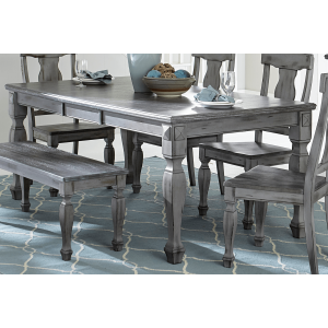 Fulbright Country Rectangular Wood Extendable Dining Table by Homelegance