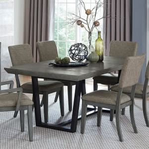 Avenhorn Modern Rectangular Wood Extendable Dining Table by Homelegance