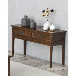 Frazier Park Wood Veneer Console Table by Homelegance