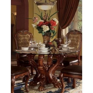 Dresden Glass/Wood Dining Set by ACME