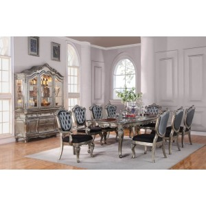 Chantelle Fabric/Wood Dining Set by ACME