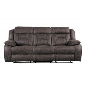 Madrona Microfiber Double Reclining Sofa by Homelegance