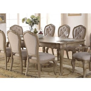 Chelmsford Fabric/Wood Dining Set by ACME