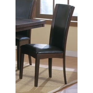 Daisy Transitional Vinyl/Wood Dining Chair by Homelegance