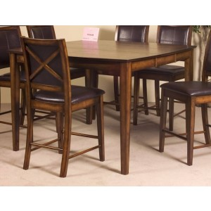 Verona Transitional Wood Counter Dining Table by Homelegance