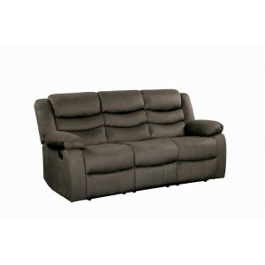 Discus Fabric Double Reclining Sofa by Homelegance