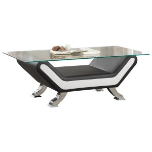 Veloce Glass Coffee Table by Homelegance