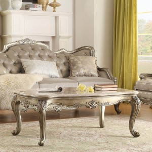 Florentina Marble Coffee Table by Homelegance