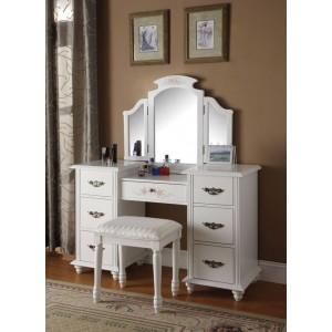 Torian Vanity Set (Desk + Mirror + Stool) by ACME