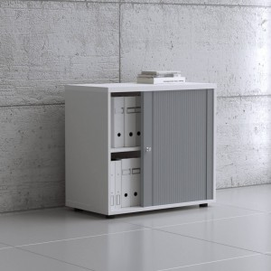 Standard 2OH Low Tambour Storage Cabinet, Height 29 1/8'' by MDD Office Furniture