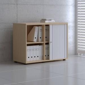 Standard A2L05 Low Tambour Storage Cabinet by MDD Office Furniture
