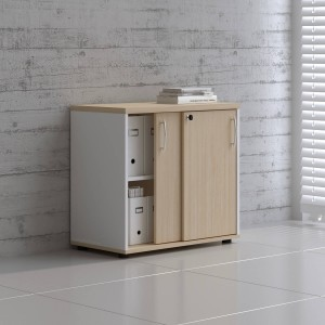 Standard A2P04 Low Office Storage Unit w/2 Sliding Doors by MDD Office Furniture