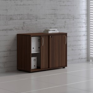 Standard A2P05 Low Office Storage Unit w/2 Sliding Doors by MDD Office Furniture