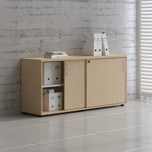 Standard A2P08 Low Office Storage Unit w/2 Sliding Doors by MDD Office Furniture