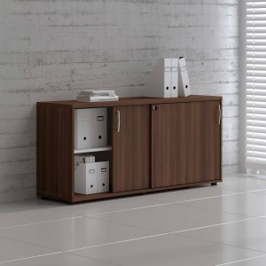 Standard A2P16 Low Office Storage Unit w/2 Sliding Doors by MDD Office Furniture