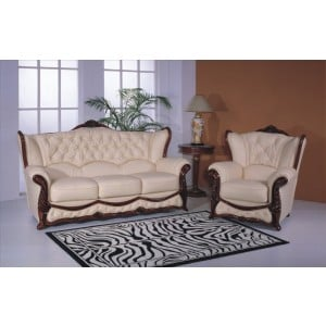 A35 Half Leather Living Room Set by ESF Furniture