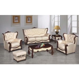 AA35 Full Leather Living Room Set by ESF Furniture