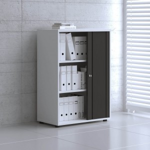 Standard 3OH Medium Tambour Storage Cabinet, Height 44 1/2'' by MDD Office Furniture
