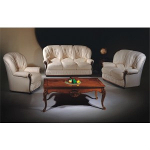 A43 Half Leather Living Room Set by ESF Furniture