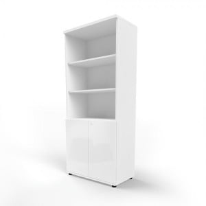Gloss 5OH Tall Office Half Bookcase by MDD Office Furniture