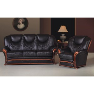 A67 Half Leather Living Room Set by ESF Furniture