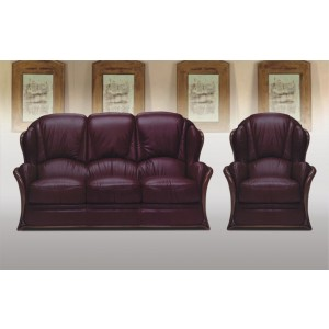 A71 Half Leather Living Room Set by ESF Furniture