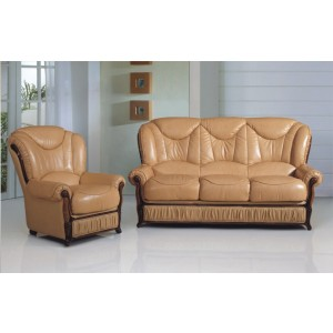 A83 Half Leather Living Room Set by ESF Furniture