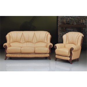 A84 Half Leather Living Room Set by ESF Furniture