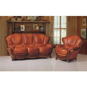 A92 Half Leather Living Room Set by ESF Furniture