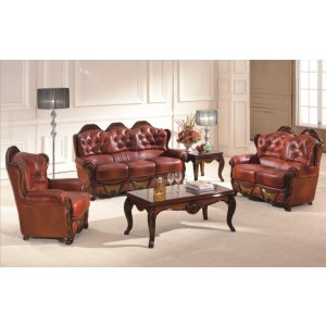 A94 Half Leather Living Room Set by ESF Furniture