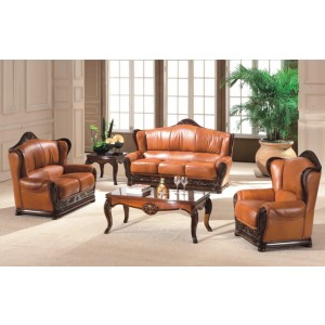 A95 Half Leather Living Room Set by ESF Furniture