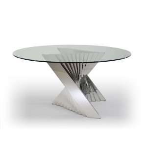 Ace Round Glass Dining Table by Sharelle Furnishings
