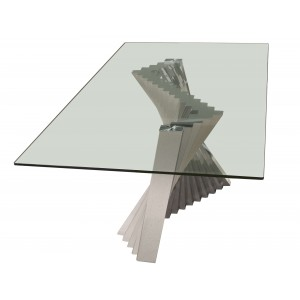 Ace Rectangular Glass Dining Table by Sharelle Furnishings