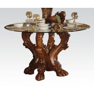 Dresden Glass/Wood Dining Table by ACME