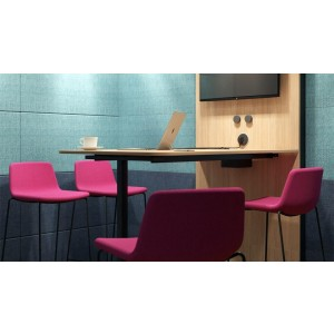 L Large Soundproof Acoustic Office Pod with Melamine Walls, Glass Door by NARBUTAS