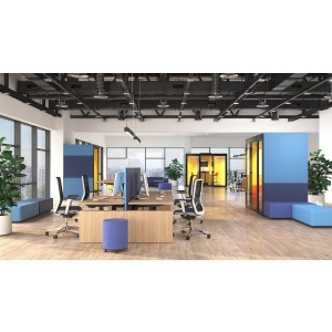 M Medium Meeting Soundproof Acoustic Office Pod with Fabric Walls, Glass Door by NARBUTAS