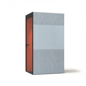 S Small Soundproof Acoustic Office Pod with Fabric Walls, Glass Door by NARBUTAS