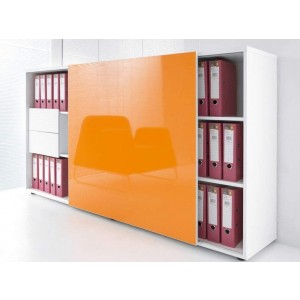 Standard ZS02 Modern Managerial Storage Cabinet w/Sliding Door by MDD Office Furniture