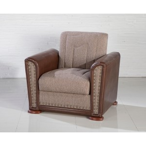 Alfa Armchair Redeyef Brown by Sunset (Istikbal) Furniture