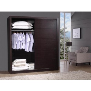 Alpha Wardrobe, Wenge by Beverly Hills Furniture